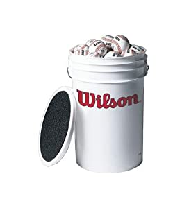 Wilson A1030 3-Dozen Bucket of Baseballs by Wilson