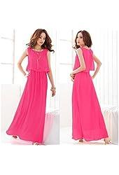 Bohenmia Chiffon Long Maxi Dresses Sleeveless Vest Dress