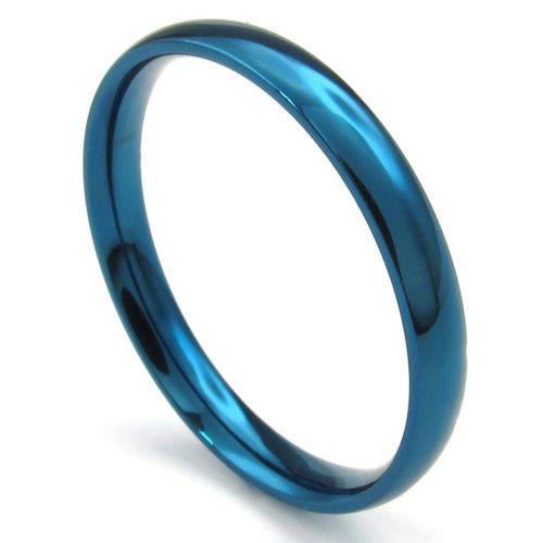 (キチシュウ)Aooazジュエリー メンズステンレスリング指輪 スムーズシンプルデザイン ブルー 高品質のアクセサリー 日本サイズ11号(USサイズ6号)