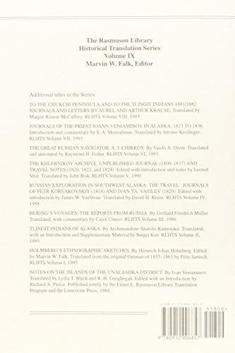 Essays on the Ethnology of the Aleuts: Rasmuson Volume IX (Rasmuson Library Historical Translation Series, V. 9)