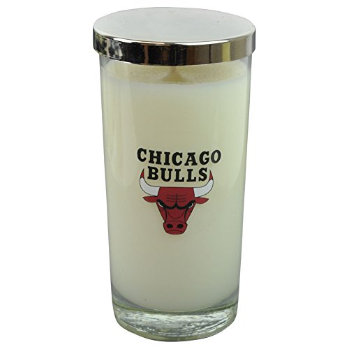 NBA Chicago Bulls Pillar Filled Scented Candles Glass 5.5 Inch Basketball Decor