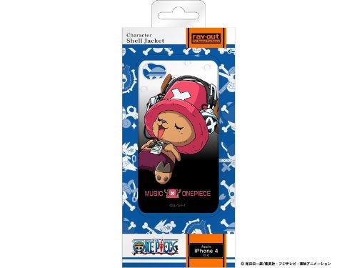 レイアウト iPhone4シリーズ用ワンピースキャラクターマルチカラーシェルジャケット チョッパーヘッドホン RT-OP3C/CH