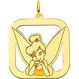14K Gold Disney Tinker Bell Charm Fairy Jewelry 25mm