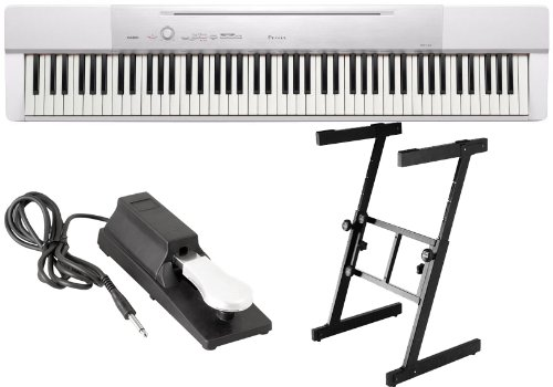 Why Should You Buy Casio PX150 White 88 Key Digital Piano w/Power Supply, DLX Stand, and Sustain Ped...