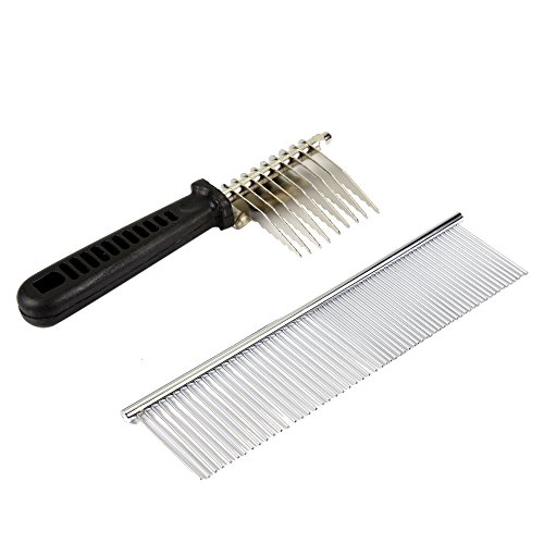 Colorpet Metal Pet Comb For Grooming Cats And Dogs De