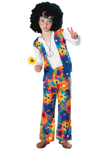 Big Boys' Hippie Costume Medium