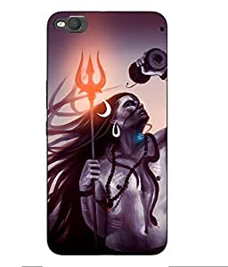 Case Cover Lord Shiva Printed Grey Hard Back Cover For HTC One X9 Smartphon