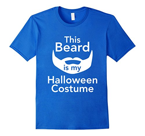 [Men's This Beard Is My Halloween Costume Men's T-shirt 3XL Royal Blue] (Manly Halloween Costumes)