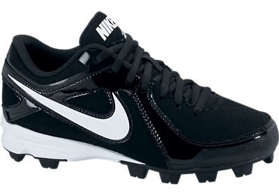 Youth Nike MVP Keystone Low LE Molded Wide Baseball Cleat Black/White