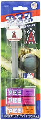 PEZ MLB Candy Dispensers, Los Angeles Angels, 0.87 Ounce (Pack of 12)