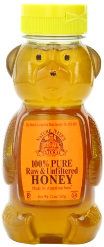 Nature Nate's 100% Pure, Raw and Unfiltered Honey,