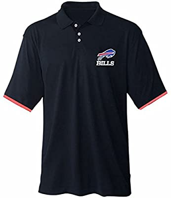 Buffalo Bills NFL Licensed Men's Cotton Polo Shirt Navy Blue Big & Tall Sizes