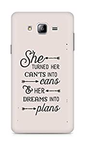 AMEZ cants into cans dreams into plans Back Cover For Samsung Galaxy ON7