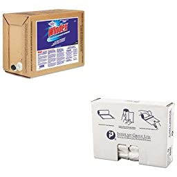 KITDRA90122IBSS303710N - Value Kit - Windex Powerized Formula Glass/Surface Cleaner (DRA90122) and IBS S303710N High Density Commercial Coreless Roll Can Liners, Natural (IBSS303710N)