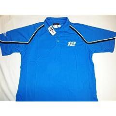 New! Blue NASCAR Ryan Newman #12 Alltel Racing Polo Shirt by Nascar