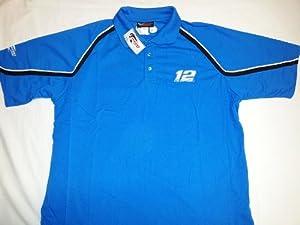 New! Blue NASCAR Ryan Newman #12 Alltel Racing Polo Shirt 3XL (XXXL) by NASCAR