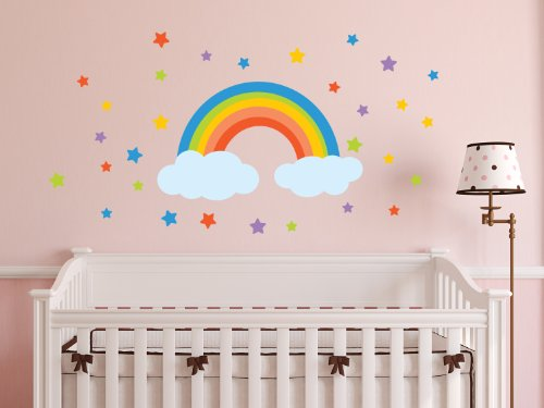 Sunny Decals Rainbow Fabric Wall Decal - 1
