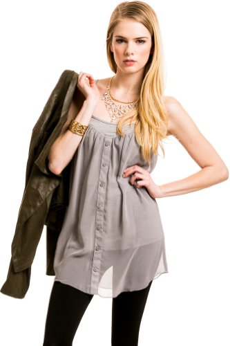 Jersey Sheer Camisole In Grey