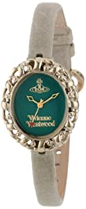Vivienne Westwood Damen-Armbanduhr Rococo II Analog Leder grün VV005GRGY