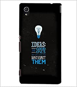 PrintDhaba Quote D-3817 Back Case Cover for SONY XPERIA M4 AQUA (Multi-Coloured)