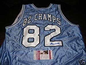 Dean Smith North Carolina Tarheels Jsacoa Signed Jersey - Autographed College Jerseys by Sports+Memorabilia