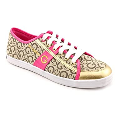 Buy G by Guess Ladies Leola Round Toe Lace up Sneakers in Multi Natural by GUESS