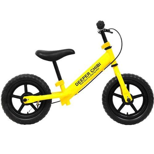 DEEPER(ディーパー) ペダルなし自転車 DE-CHIBI ブレーキ付きランニングバイク ひまわりイエロー DE-CHIBI-YE
