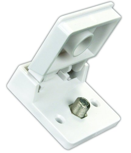 JR Products 47755 Polar White Exterior Weatherproof TV Jack (Rv Cable Tv Outlet compare prices)