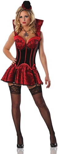 Delicious First Bite Sexy Costume, Black/Red, X-Small