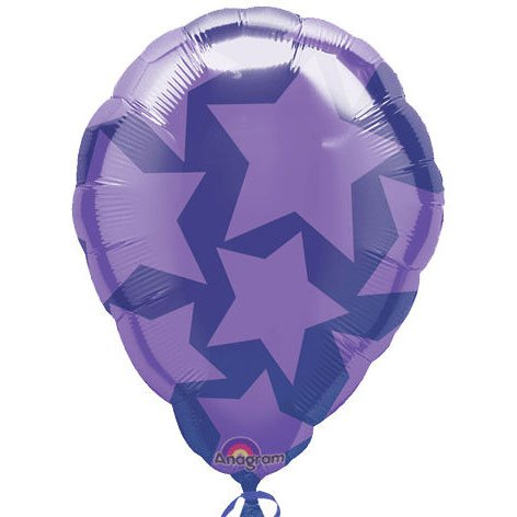 "Anagram International Star Balloon-Flat-Balloon, 18"", Purple"