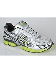 Mens Shock Absorbing Running Trainers grey/lime Size 10