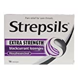 Strepsils extra blackcurrant 6 pack