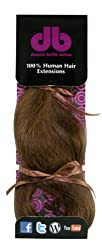 Donna Bella Full Head 100% Human Hair Clip In Hair Extensions 16 Inches Color No. 6/24 4 Ounce