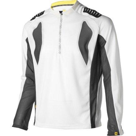 Buy Low Price Mavic Stratos Long Sleeve Jersey White/Autobahn, S (B0083VCY7U)