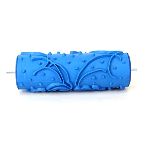 ueetek-5-inch-rubber-painting-roller-diy-empaistic-roller-tool-for-wall-decoration-blue