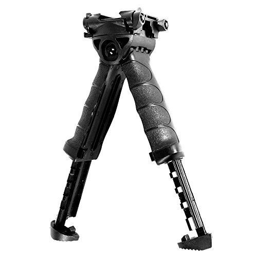 Generic Metal Spring Return Hunting Rifle Bipod Sling Swivel Mount Stand Adjustable Legs