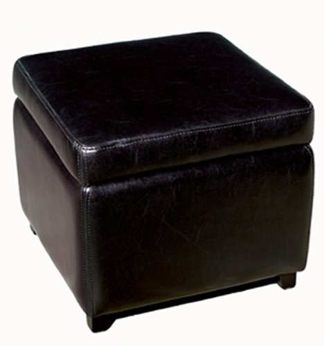black friday baxton studio full leather square storage