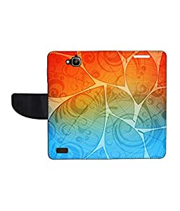 KolorEdge Printed Flip Cover For Huawei Honor Holly - Multicolor(50KeMLogo8370HonorHolly)