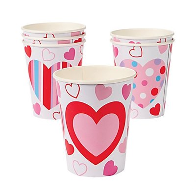 Valentine's Hearts Cups 2 units