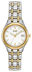 Citizen Ladies Eco-Drive Silhouette Two-Tone Watch #EW1264-50A, Solar Powered