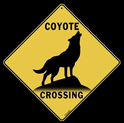 Coyote Silhouette Crossing Sign-12