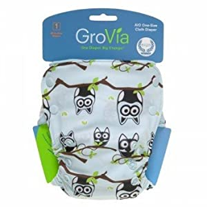 GroVia All in One Diaper - Owl