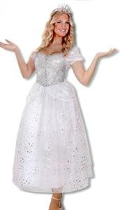 Ice Queen Costume bianco e argento