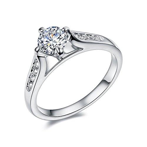 Bella-Lotus-18k-White-Gold-Plated-1-Carat-Round-CZ-Wedding-Rings-Size-6