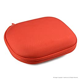 SONY MDR-ZX100, ZX300, ZX310, ZX400, XB200, ZX102DPV Headphone Carrying Case/Bag (Red)