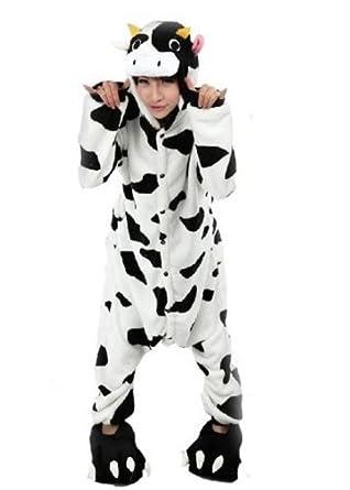 Amour - Sleepsuit Pajamas Costume Cosplay Homewear Lounge Wear (S, Cow)