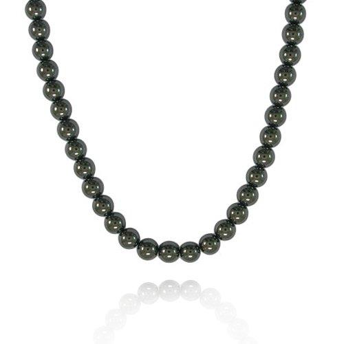 6mm Round Hematine Bead Necklace, 16+2