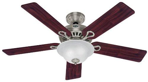 Hunter Ceiling Fans 20531 Vista Fan - Brushed Nickel Contemporary Indoor Fan 52