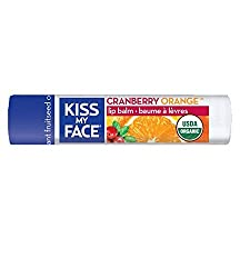 Kiss My Face Organic Cranberry Orange Lip Balm, Spf 15, 0.15 Ounce Stick