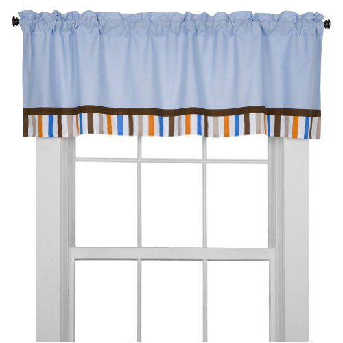 Bacati Mod Sports Blue Window Valance - 1